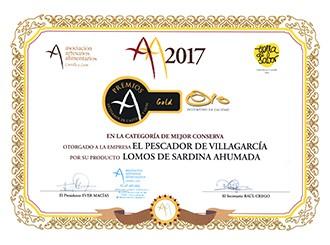 Premio oro en la categoría mejor conserva