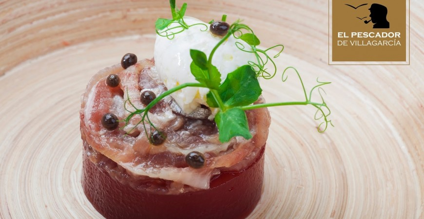 SMOKED SARDINE BELLY FILLETS WITH MASCARPONE CHEESE AND QUINCE JAM